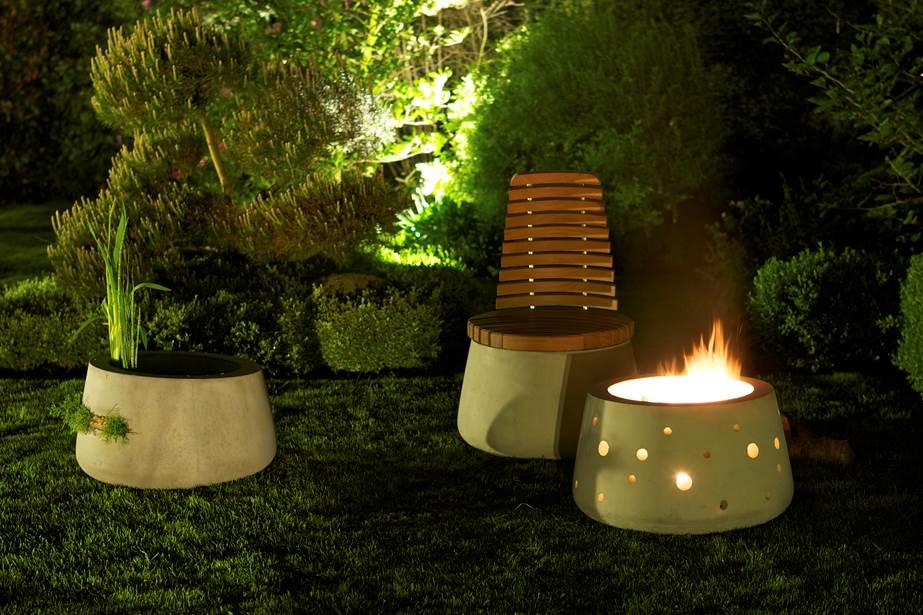 Terrasse Feuerstelle feuerstelle garten fuego